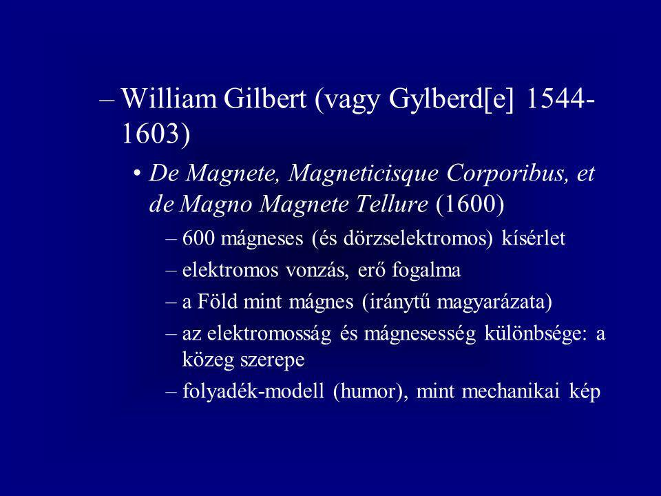William Gilbert (vagy Gylberd[e] 1544-1603)
